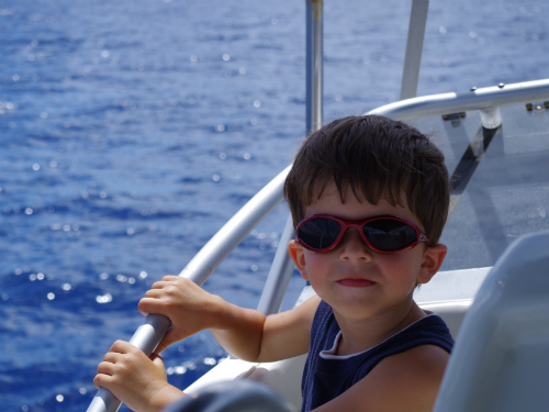 Carter on boat