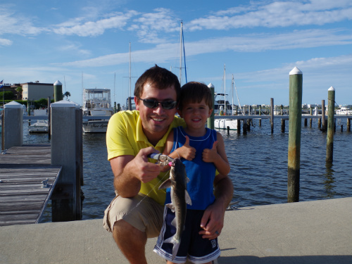 Carter and Dan love to fish together!