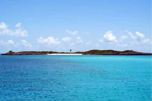 Our first anchorage in the Exuma Cays