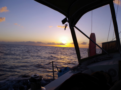 The beautiful sunrise over the Gulf Stream